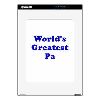 El PA más grande de los mundos iPad Skin