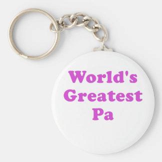 El PA más grande de los mundos Llavero Redondo Tipo Pin