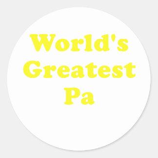 El PA más grande de los mundos Pegatina Redonda