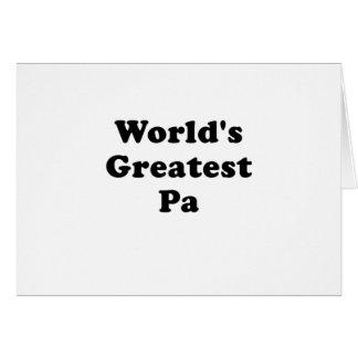 El PA más grande de los mundos Tarjeta De Felicitación