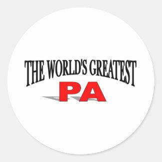 El PA más grande del mundo Pegatina Redonda