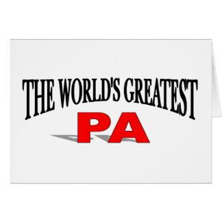 El PA más grande del mundo Tarjeta De Felicitación