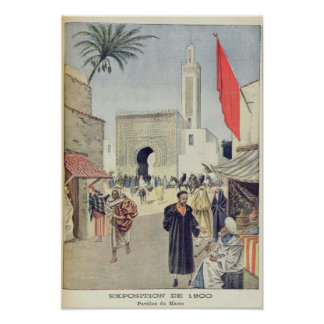 El pabellón marroquí en la exposición universal póster