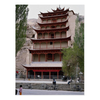 El pabellón que contiene al gran Buda, Mogao excav Tarjetas Postales