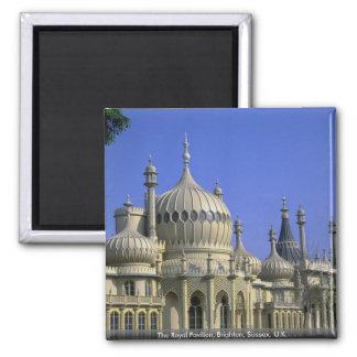 El pabellón real, Brighton, Sussex, Reino Unido Imán Cuadrado