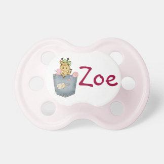 El pacificador del bebé personalizado chupete de bebé