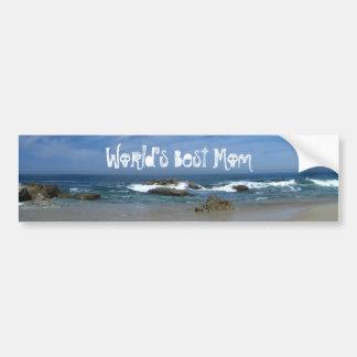 El Pacífico perfecto; Día de madres feliz Etiqueta De Parachoque