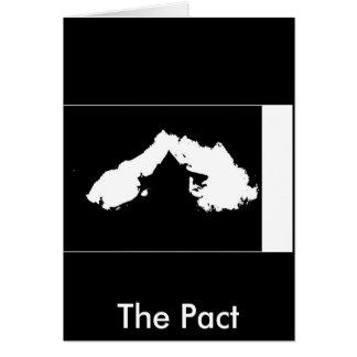 El pacto tarjeta de felicitación