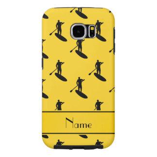 El paddleboarding negro amarillo conocido fundas samsung galaxy s6