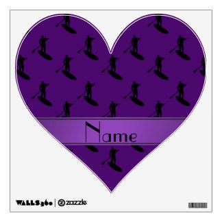 El paddleboarding negro púrpura conocido vinilo decorativo