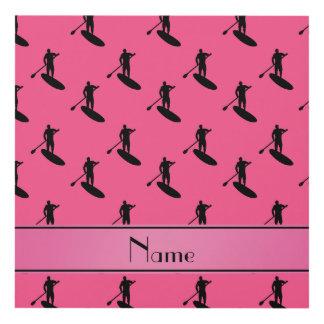 El paddleboarding negro rosado conocido cuadro