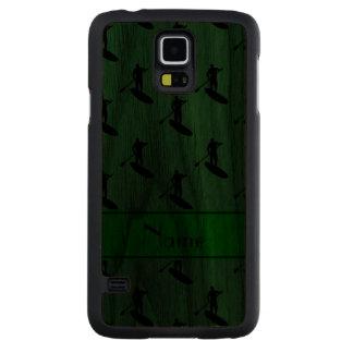 El paddleboarding negro verde conocido funda de galaxy s5 slim nogal