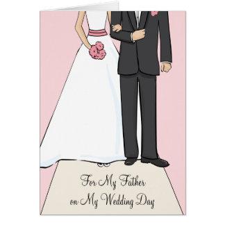 El padre de la novia le agradece cardar tarjeta de felicitación