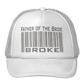 El padre de la novia se rompió gorros bordados