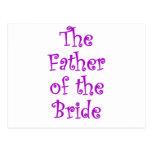 El padre de la novia tarjetas postales