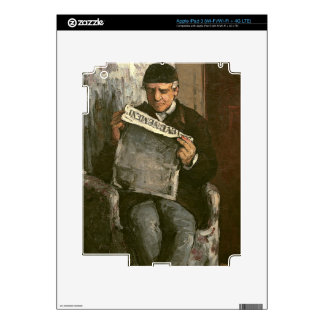 """El padre del artista, leyendo """"L'Événement"""", 1866 Pegatinas Skins Para iPad 3"""