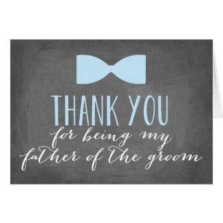 El padre del novio le agradece padrino de boda del tarjeta pequeña
