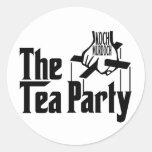 El padre del té pegatina redonda