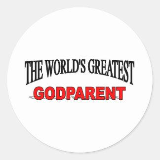 El padre más grande de dios del mundo pegatina redonda