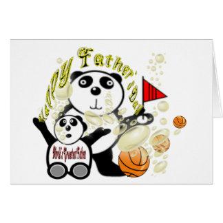 El padre más grande de padre del mundo feliz del tarjeta de felicitación