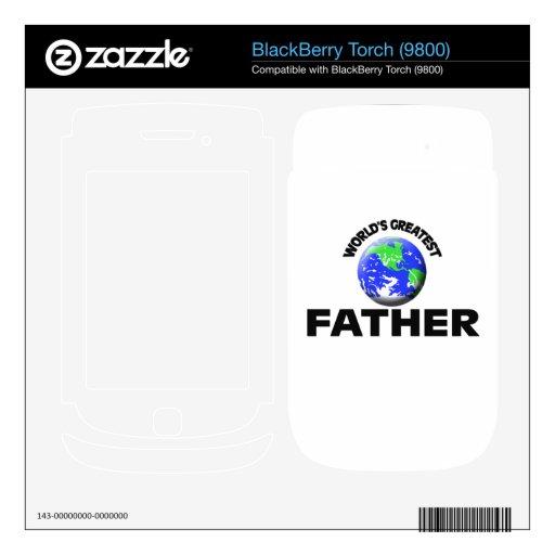 El padre más grande del mundo BlackBerry calcomanía