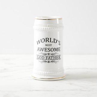 El padre más impresionante de dios del mundo jarra de cerveza