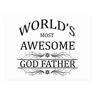 El padre más impresionante de dios del mundo tarjeta postal