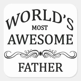 El padre más impresionante del mundo pegatina cuadrada