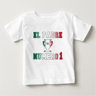 El Padre Número 1 #1 Dad in Spanish Father's Day Baby T-Shirt