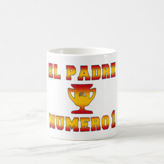 El Padre Número 1 #1 Dad in Spanish Father's Day Coffee Mug