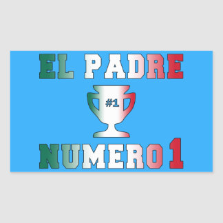 El Padre Número 1 #1 Dad in Spanish Father's Day Rectangular Sticker