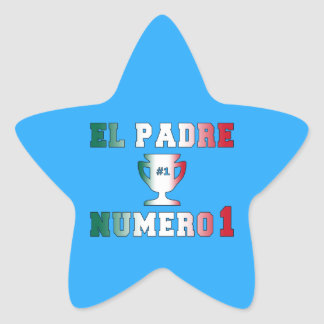 El Padre Número 1 #1 Dad in Spanish Father's Day Star Sticker