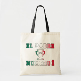 El Padre Número 1 #1 Dad in Spanish Father's Day Tote Bag