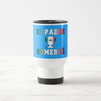El Padre Número 1 #1 Dad in Spanish Father's Day Travel Mug