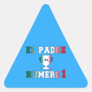 El Padre Número 1 #1 Dad in Spanish Father's Day Triangle Sticker