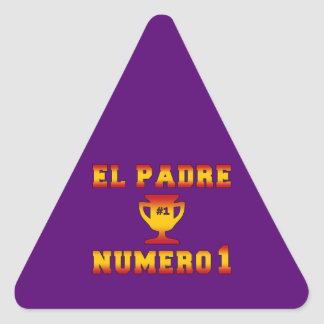 El Padre Número 1 #1 Dad in Spanish Father's Day Triangle Sticker
