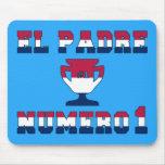 EL Padre Número 1 en colores de la bandera america Tapete De Ratones