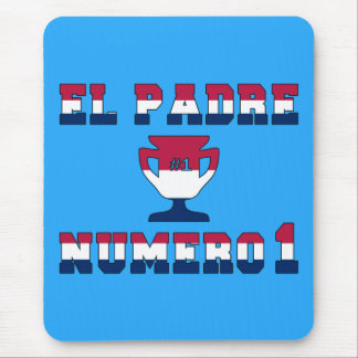 El Padre Número 1 in American Flag Colors Mouse Pad