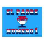 El Padre Número 1 in American Flag Colors Postcard