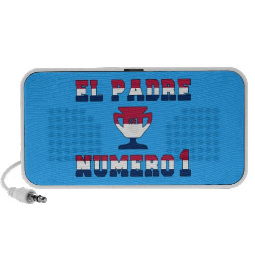 El Padre Número 1 in American Flag Colors Portable Speakers