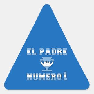 El Padre Número 1 - Number 1 Dad in Argentine Triangle Sticker