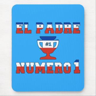 El Padre Número 1 - Number 1 Dad in Chilean Mouse Pad