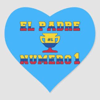 El Padre Número 1 - Number 1 Dad in Colombian Heart Sticker