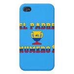 El Padre Número 1 - Number 1 Dad in Colombian iPhone 4/4S Case