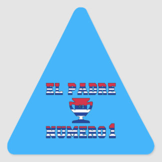 El Padre Número 1 - Number 1 Dad in Cuban Triangle Sticker
