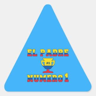 El Padre Número 1 - Number 1 Dad in Ecuadorian Triangle Sticker