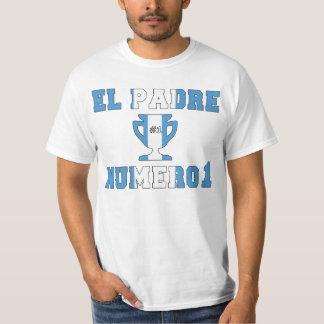 El Padre Número 1 - Number 1 Dad in Guatemalan Tee Shirt