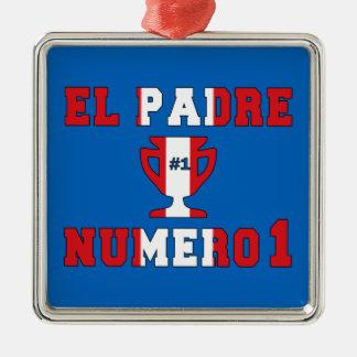 El Padre Número 1 - Number 1 Dad in Peruvian Christmas Tree Ornaments