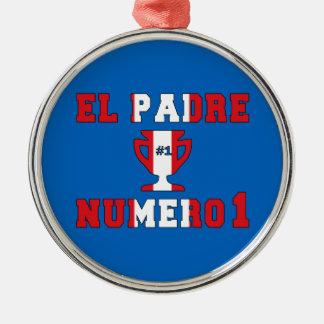 El Padre Número 1 - Number 1 Dad in Peruvian Christmas Ornament