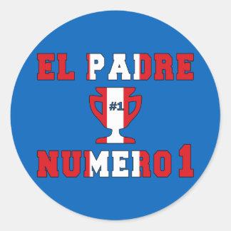 El Padre Número 1 - Number 1 Dad in Peruvian Round Sticker